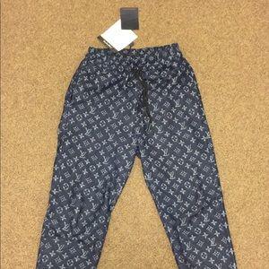 Louis Vuitton Pants Denim Monogram Jogger Sweat Poshmark